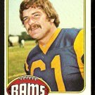 LOS ANGELES RAMS RICH SAUL 1976 TOPPS # 77