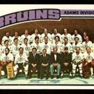 BOSTON BRUINS TEAM CARD W/ BOBBY ORR 1976 TOPPS # 133 UNMARKED CL