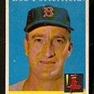 BOSTON RED SOX BOB PORTERFIELD 1958 TOPPS # 344 EX
