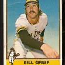 SAN DIEGO PADRES BILL GREIF 1976 TOPPS # 184 fair/good