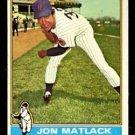 NEW YORK METS JON MATLACK 1976 TOPPS # 190 EX