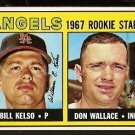 CALIFORNIA ANGELS ROOKIE STARS BILL KELSO DON WALLACE 1967 TOPPS # 367 EX/EM