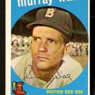 BOSTON RED SOX MURRAY WALL 1959 TOPPS # 42 NR MT