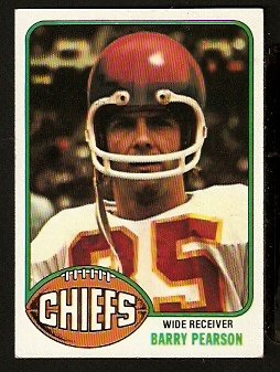 KANSAS CITY CHIEFS BARRY PEARSON 1976 TOPPS # 114 EM/NM