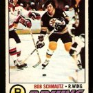 BOSTON BRUINS BOB SCHMAUTZ 1977 OPC O PEE CHEE # 59 EX MT
