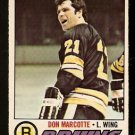 BOSTON BRUINS DON MARCOTTE 1977 OPC O PEE CHEE # 165