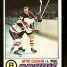 BOSTON BRUINS WAYNE CASHMAN 1977 OPC O PEE CHEE # 234 EM/NM