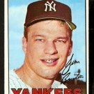 NEW YORK YANKEES JIM BOUTON 1967 TOPPS # 393 EX