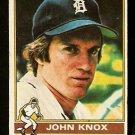 DETROIT TIGERS JOHN KNOX 1976 TOPPS # 218 good