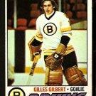 BOSTON BRUINS GILLES GILBERT 1977 TOPPS # 125 VG