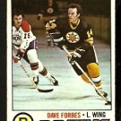BOSTON BRUINS DAVE FORBES 1977 TOPPS # 143 good
