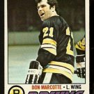 BOSTON BRUINS DON MARCOTTE 1977 TOPPS # 165 EM/NM