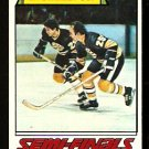 STANLEY CUP SEMI-FINALS BOSTON BRUINS ADVANCE TO FINALS 1977 TOPPS # 263 VG