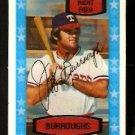 TEXAS RANGERS JEFF BURROUGHS 1975 KELLOGGS 3-D SUPER STARS # 8 EX MT