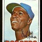 LOS ANGELES DODGERS LOU JOHNSON 1967 TOPPS # 410 good