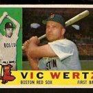 BOSTON RED SOX VIC WERTZ 1960 TOPPS # 111 VG