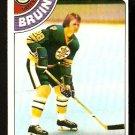 BOSTON BRUINS DENNIS O'BRIEN 1978 TOPPS # 104 EM/NM