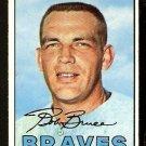 ATLANTA BRAVES BOB BRUCE 1967 TOPPS # 417b VG/EX