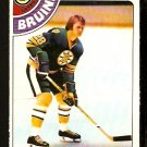 BOSTON BRUINS DENNIS O'BRIEN 1978 OPC O PEE CHEE # 104 NR MT