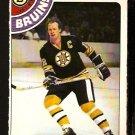 BOSTON BRUINS WAYNE CASHMAN 1978 OPC O PEE CHEE # 124 NR MT