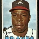 ATLANTA BRAVES MACK JONES 1967 TOPPS # 435 EX
