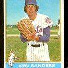 NEW YORK METS KEN SANDERS 1976 TOPPS # 291 VG