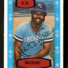 KANSAS CITY ROYALS HAL McRAE 1975 KELLOGGS 3D SUPER STARS # 53 NR MT