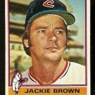 CLEVELAND INDIANS JACKIE BROWN 1976 TOPPS # 301 good