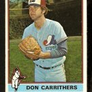 MONTREAL EXPOS DAN CARRITHERS 1976 TOPPS # 312 VG