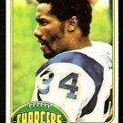SAN DIEGO CHARGERS RICKEY YOUNG ROOKIE CARD RC 1976 TOPPS # 263 EX/EM
