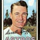 HOUSTON ASTROS DERRELL GRIFFITH 1967 TOPPS # 502