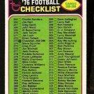 CHECKLIST 265-396 1976 TOPPS # 273 EX one box marked