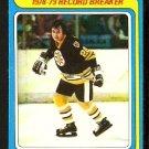 BOSTON BRUINS BRAD PARK RECORD BREAKER 1979 TOPPS # 164 EX