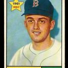 BOSTON RED SOX CHUCK SCHILLING ROOKIE CARD RC 1961 TOPPS # 499