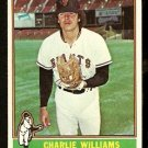 SAN FRANCISCO GIANTS CHARLIE WILLIAMS 1976 TOPPS # 332 EX/EM