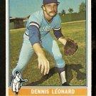 KANSAS CITY ROYALS DENNIS LEONARD 1976 TOPPS # 334 good