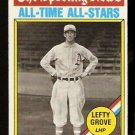 PHILADELPHIA ATHLETICS LEFTY GROVE SPORTING NEWS ALL-TIME ALL-STARS 1976 TOPPS # 350 EX