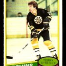 BOSTON BRUINS TERRY O'REILLY 1980 OPC O PEE CHEE # 56 NR MT
