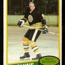 BOSTON BRUINS MIKE MILBURY 1980 OPC O PEE CHEE # 191 EX+/EM