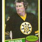 BOSTON BRUINS DICK REDMOND 1980 TOPPS # 36 EX/EM