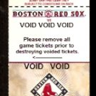 BOSTON RED SOX 2001 FENWAY PARK VOIDED FULL TICKET