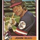 CLEVELAND INDIANS JOHN ELLIS 1976 TOPPS # 383 VG