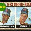 WASHINGTON SENATORS ROOKIE STARS FRANK COGGINS DICK NOLD 1968 TOPPS # 96
