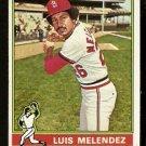 ST LOUIS CARDINALS LUIS MELENDEZ 1976 TOPPS # 399 VG+