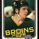 BOSTON BRUINS MIKE O'CONNELL 1981 TOPPS # E 70 NR MT