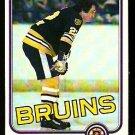 BOSTON BRUINS BRAD PARK 1981 TOPPS # E 72 NR MT