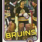 BOSTON BRUINS ROGATIEN VACHON 1981 TOPPS # E 74 NR MT