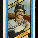KANSAS CITY ROYALS DARRELL PORTER 1980 KELLOGGS 3-D SUPER STARS # 12 NM