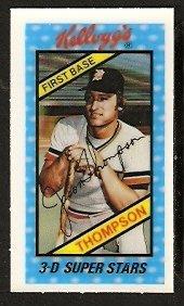 DETROIT TIGERS JASON THOMPSON 1980 KELLOGGS 3-D SUPER STARS # 17 NM