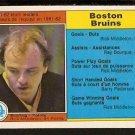 BOSTON BRUINS TEAM LDRS RICK MIDDLETON 1982 OPC O PEE CHEE # 6 EM